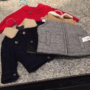 (3 ITEMS) Baby boy jacket bundle. 3-6 months